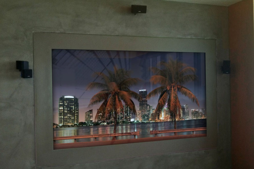 HD-Mirror Painted Glass Television